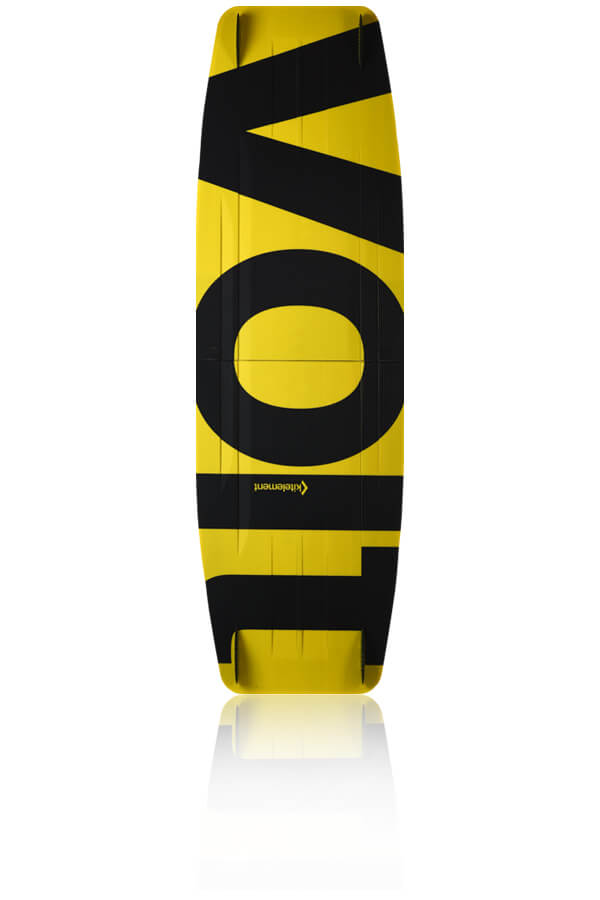 kitelement - split kiteboard - re volt yellow