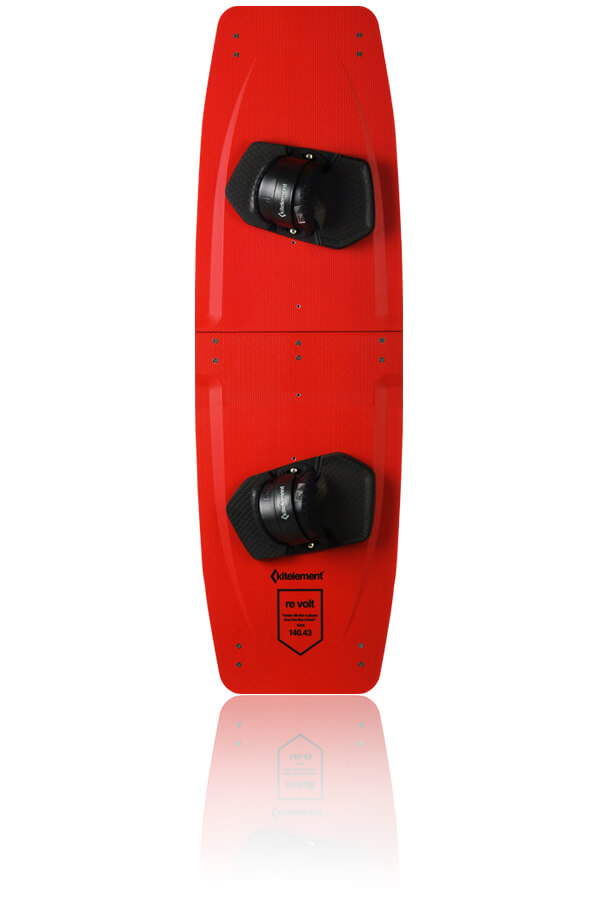 kitelement - split kiteboard - re volt red