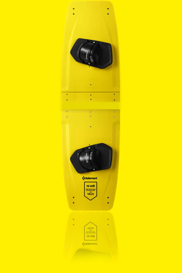 re volt yellow - split kiteboard